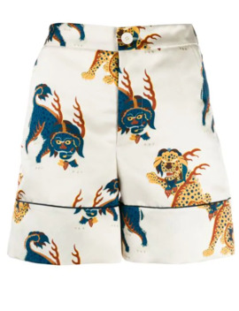 Dragon Print Shorts by Kirin
