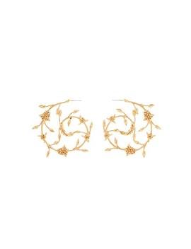 Swirling Branch Earring by Oscar De La Renta