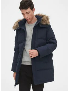 Quilted Down Parka Jacket With Detachable Hood by Gap