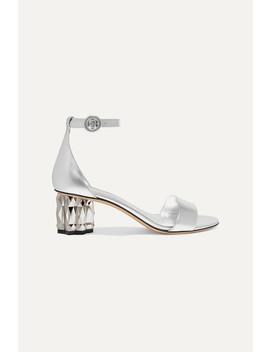 Azalea Metallic Leather Sandals by Salvatore Ferragamo