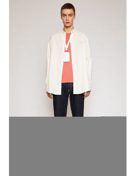 Face Patch Oversized Shirt White by Acne Studios