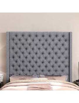 Antonio Wingback Tufted High Headboard Upholstered Standard Bed by I Nstant Home