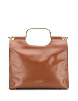 Handtasche Mit Goldfarbenen Beschlägen by Marni