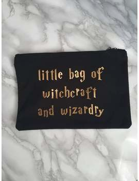 Little Bag Of Witchcraft And Wizardry Cosmetics Bag / Pencil Case / Canvas Bag by Etsy