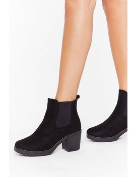 Suede You Want Me Faux Suede Chelsea Boots by Nasty Gal