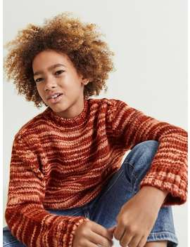 Striped Blended Knit Sweater by Zara