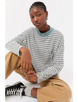 Quiksilver Uo Exclusive Striped Long Sleeve Pocket Tee by Quiksilver