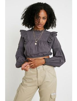 Uo Cutwork Lace Blouse by Urban Outfitters