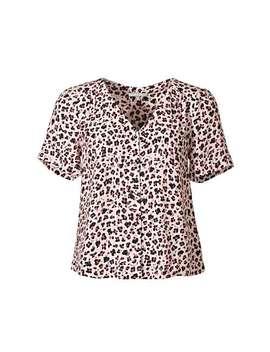 Animal Print Pink Short Sleeve Shirt by Olivar Bonas