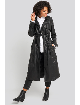 Faux Leather Trenchcoat Sort by Na Kd Trend