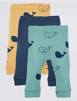 3 Leggings Met Walvisprint by 35 Dagen Retourneren