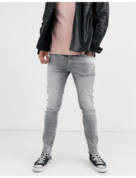 Asos Design 12.5oz Skinny Jeans In Washed Grey by Asos Design
