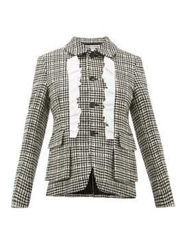 Ruffle Trimmed Houndstooth Tweed Jacket by Comme Des Garçons Comme Des Garçons