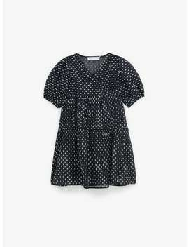 Dotted Mesh Foil Dress by Zara