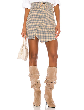 Milicent Mini Skirt In Plaid Multi by Song Of Style