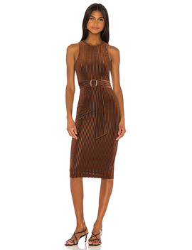 Kit Midi Dress In Chocolate Brown by Song Of Style