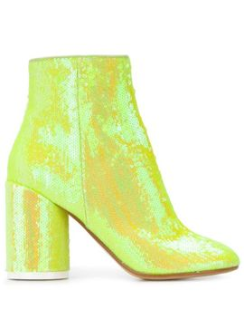 Sequin Embellished Ankle Boots by Mm6 Maison Margiela