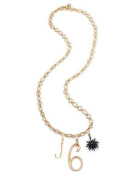 Plaza Letter & Number Necklace With Radiant Star by Lulu Frost