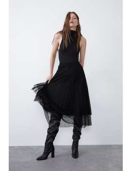 Gonna In Tulle Plumetis by Zara