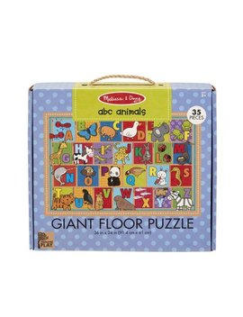 Melissa & Doug Natural Play Giant Floor Puzzle: Abc Animals (35 Piece) by Melissa & Doug