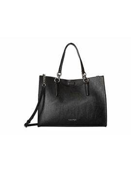 Reversible East/West Novelty Box Tote by Calvin Klein