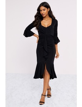 Lipsy Jersey Wrap Frill Dress by Next