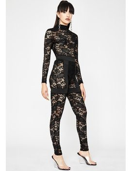Fifth Avenue Fever Lace Jumpsuit by Dolls Kill