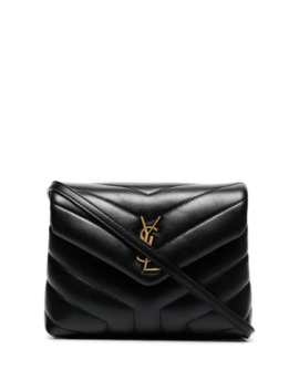 Black Toy Lou Lou Leather Mini Bag by Saint Laurent