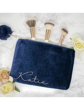 Personalised Bridesmaid Velvet Makeup Bag, Personalised Cosmetic Make Up Bag,Bridesmaid, Maid Of Honour, Unique Gift For Bridal Party Bags by Etsy