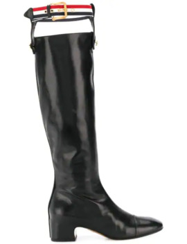 Rwb Suspender Knee High Boot by Thom Browne