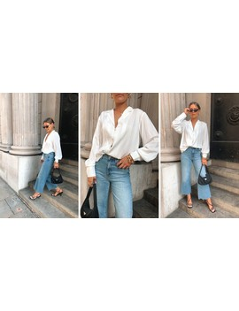 Bronte Button Blouse White by Pretty Lavish