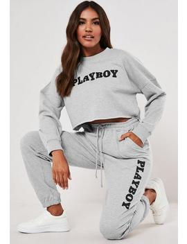 Playboy X Missguided Grey Loungewear Joggers by Missguided