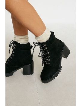 Uo Brixton Heeled Lace Up Boots by Urban Outfitters