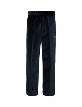 Navy Embroidered Velvet Suit Trousers by Needles