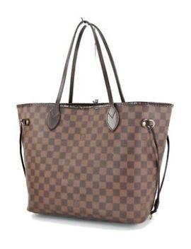Authentic Louis Vuitton Neverfull Mm Damier Ebene Tote Bag Purse #33825 by Louis Vuitton