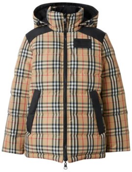 Vintage Check Puffer Jacket by Burberry