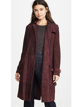 Suede Trench Coat by Victoria Victoria Beckham