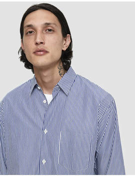 Forever Blue Stripe Button Up Shirt by Comme Des Garçons Shirt Comme Des Garçons Shirt