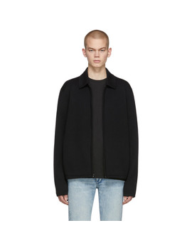Black Merino Melrose Zip Sweater by Rag & Bone
