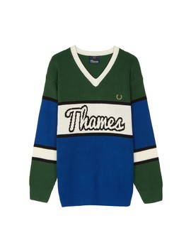 Thames Colourblock Jumper by Fred Perry