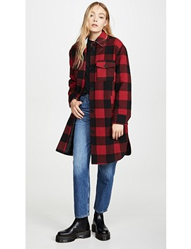 Buffalo Plaid Wool Shirt Jacket by Avec Les Filles