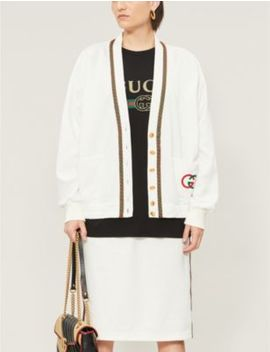 V Neck Loose Fit Knitted Cardigan by Gucci