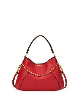 Twinkle Studded Small Leather Hobo Bag by Valentino Garavani