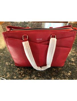 Cole Haan Red Leather American Airlines Tote by Cole Haan
