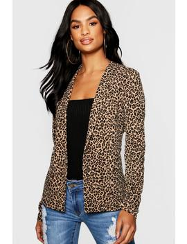 Tall Leopard Print Blazer by Boohoo