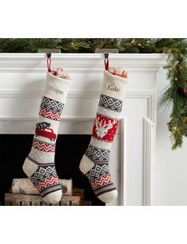 Fair Isle Knit Stockings by Pottery Barn