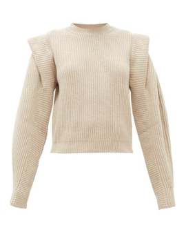 Bolton Pintucked Shoulder Cashmere Blend Sweater by Isabel Marant