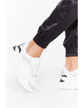 Mixed Fabric Perspex Panel Trainers by Nasty Gal