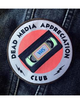 Dead Media Appreciation Club Iron On Patch by Etsy