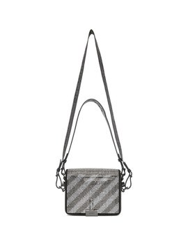 Black Crystal Diag Flap Bag by Off White